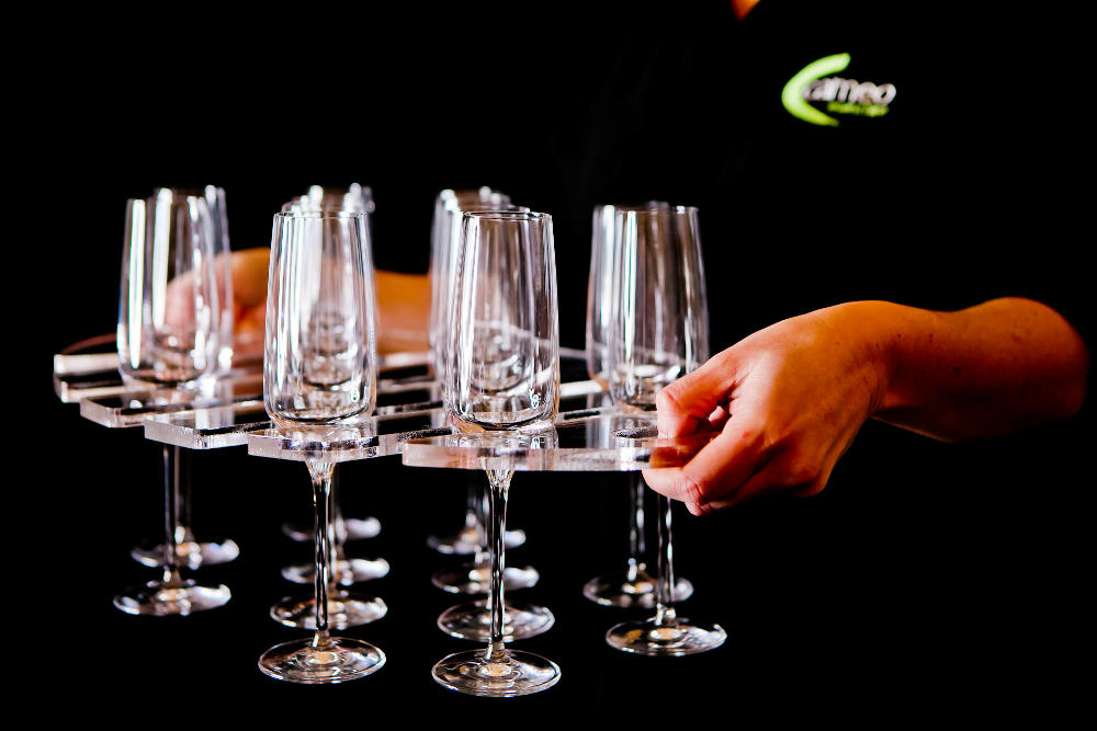 Cameo glasswear to hire